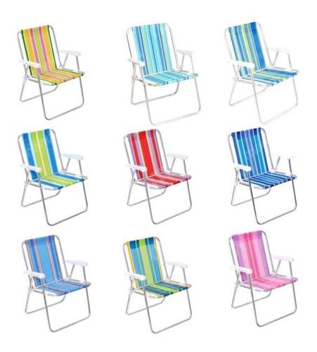 cadeiras de praia alta bel lazercores sortidas
