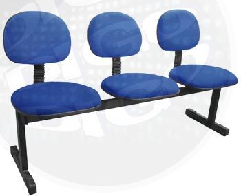 cadeiras para sala de espera kit com 3 cadeiras p/ recepçao