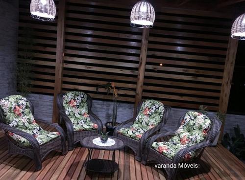 cadeiras poltronas pra de deck madeira, fibra sintética vime