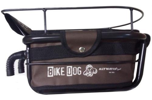 cadeirinha cestinha bike dog para bicicleta marrom altmayer
