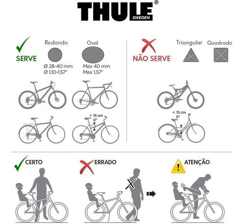 cadeirinha criança de bicicleta thule ridealong cinza 22kg