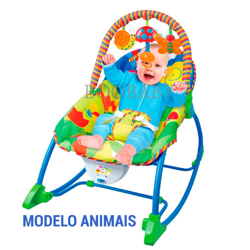 cadeirinha vibratória animais baby style 18kg