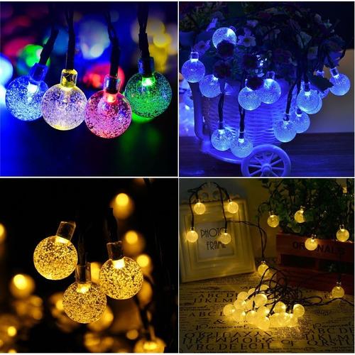 cadena 10 luces cristal centros de mesa o festividades 1mts