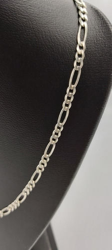 cadena 3*1 para niño niña de plata fina ley .925 4mm