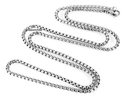 cadena acero eslabón cuadrado 50cm premium collar, colgante