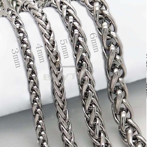 cadena acero modelo espiga 49cm - premium collar, colgante