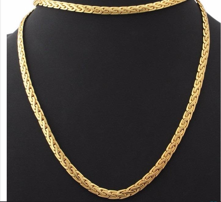 13dac5d874ed Cadena Bañada En Oro 18k Real Joyeria Collar Colgante Joyas -   299 ...