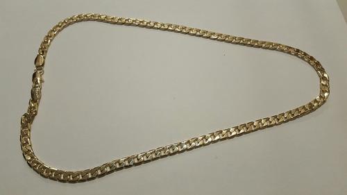 cadena barbada chapa de oro 6.4 mm + envio gratis