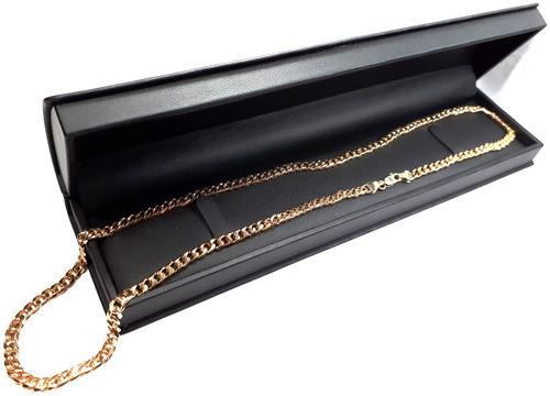 cadena barbada cubana oro macizo 18k 1/2cm. ancho pesa 40grs