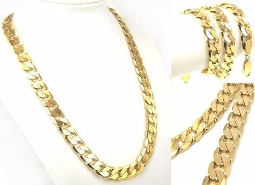 cadena barbada de oro macizo 14k 50cm. pesa 45grs solid gold
