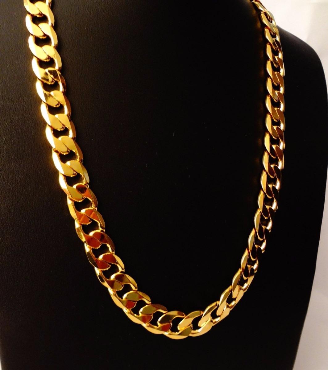 fotos oficiales bad95 c005d Cadena Barbada De Oro Macizo 14k 60cm. Pesa 40grs Solid Gold