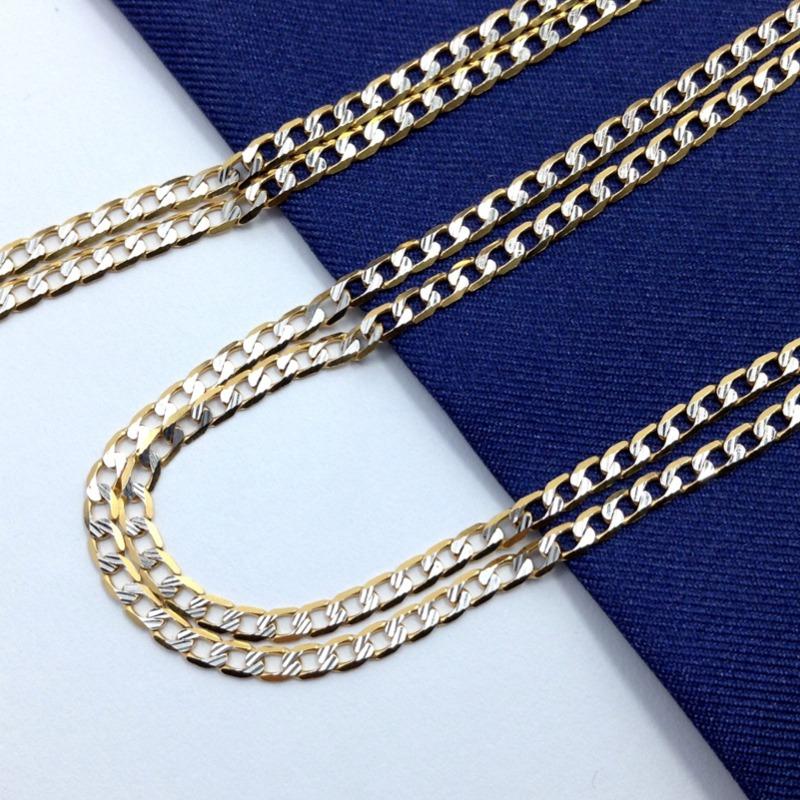 5dac77314824 cadena barbada diamantada caballero oro italiano 14k gbm. Cargando zoom.