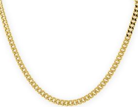 df3aef26549c Cadena Oro 14 K Tejido Cubano - Collares y Cadenas Oro Sin Piedras en  Mercado Libre México