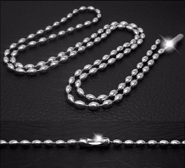 cadena  bead  acero inoxidable 316l