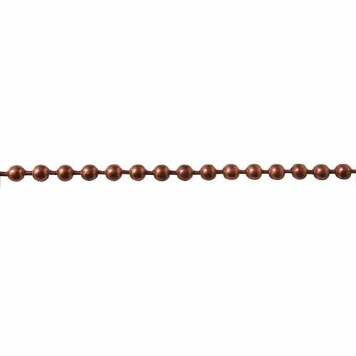 cadena bola color dorado tipo antiguo 2 mm de 200 mts