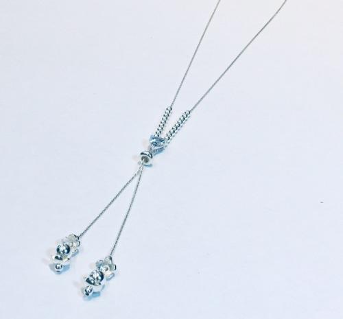 cadena bolita y cubic  plata 925 mujer capl224 | garantía