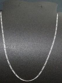 a0ebf907cad6 Cadena Cartier De 50cm Figaro Plana Mujer Hombre Plata .925