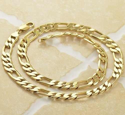 cadena cartier oro laminado 18k gruesa 60cm x 12mm 85gr