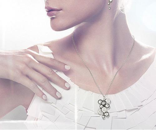 069872b5f3cd Cadena Colgante De Cristales Marca Swarovski Original