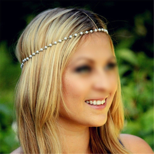 cadena collar adorno accesorio cabello fiesta peinado