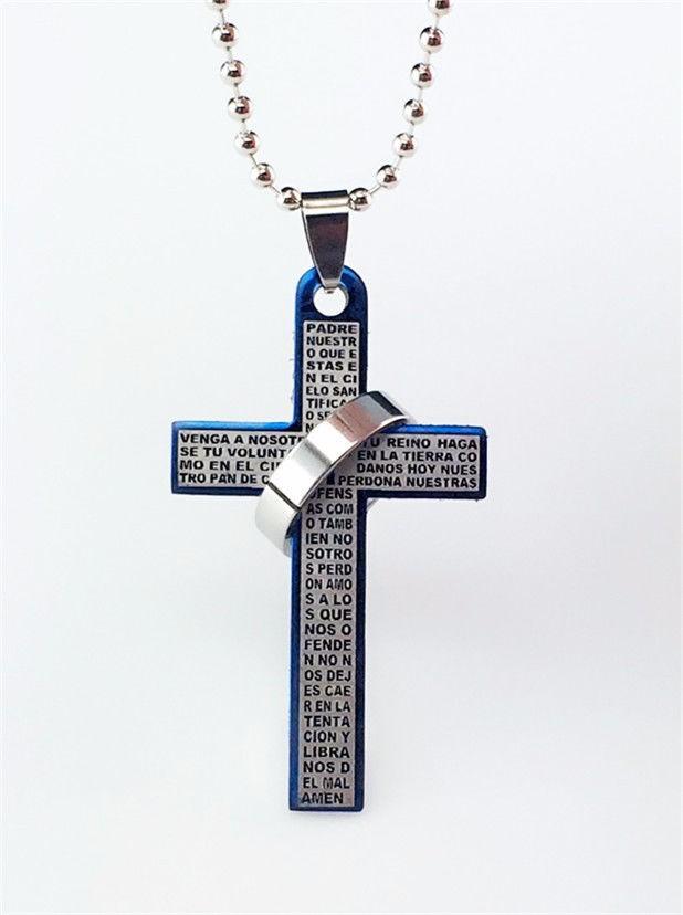 Colgante cruz padre nuestro