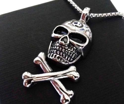 cadena collar de calavera 13 acero excelente skpalace