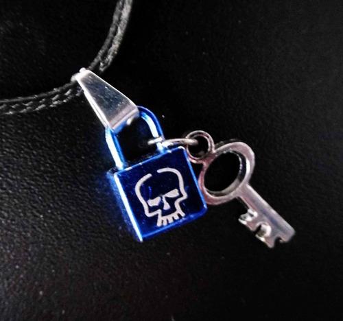 cadena collar de candado y llave de calavera excelente skpal