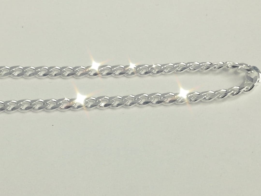 3290c67d831e Cadena Collar En Plata 66 Cm X 4 Mm Tejido Tipo Barbada -   860.00 ...
