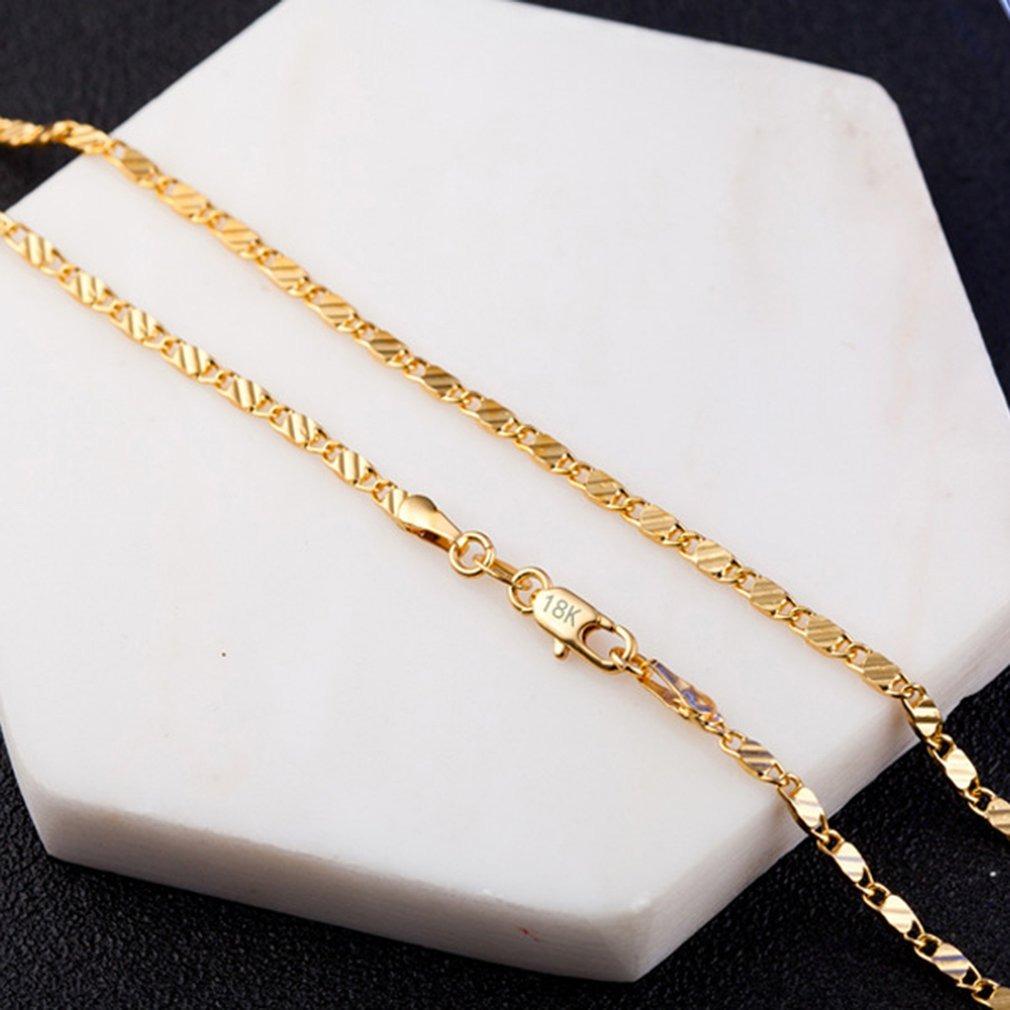17bc210a52c8 Cargando zoom... joyas col cadena collar. Cargando zoom... oro color plano  cadena collar para mujeres hombres ...