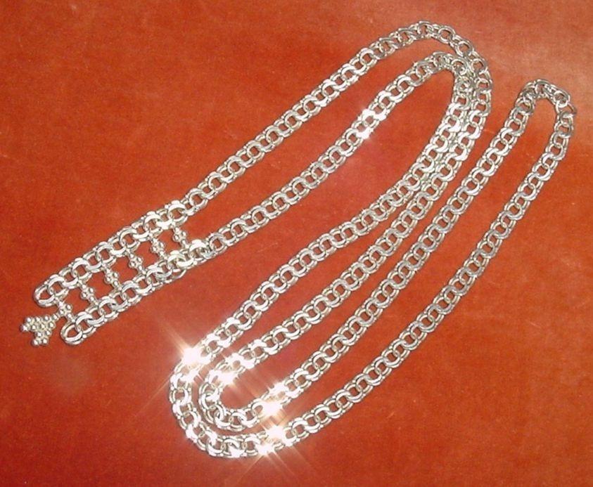 e8058d89404f cadena collar largo entero punzón plata 830 joya europea. Cargando zoom.