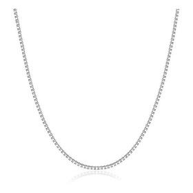 Cadena Collar Para Mujer Fabricada En Plata 925 50cmt. 0.6mm