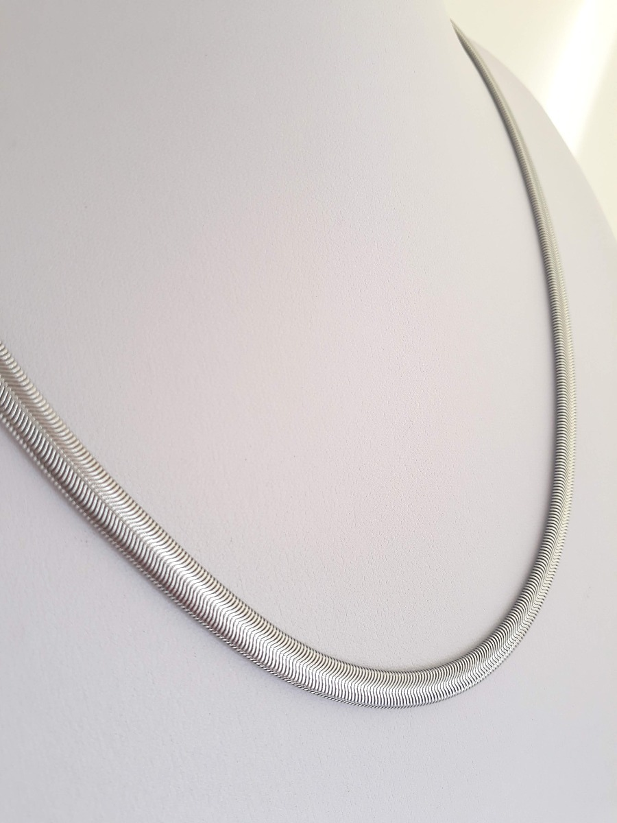 c9e69f920be0 cadena   collar tipo snake de acero. Cargando zoom.
