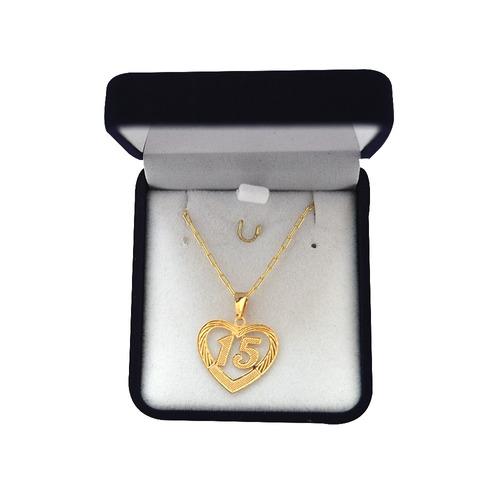 cadena con dije de corazon - indigo shop