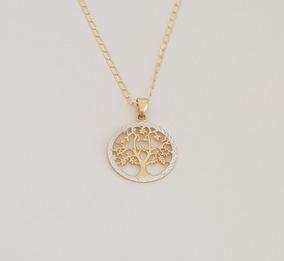 81c4831cd8f8 Cadena Con Medalla Dije Arbol De La Vida Oro Sólido 14k