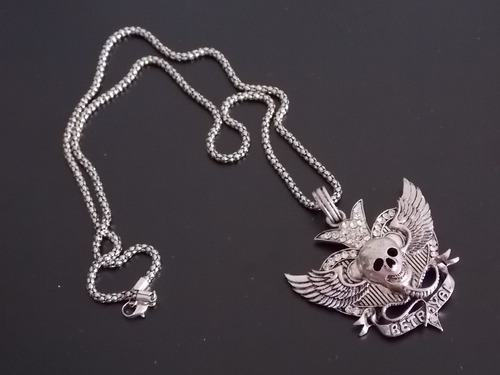 cadena con pendiente de calavera collar skpalace