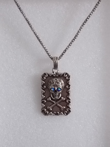 cadena con pendiente de calavera medalla collar skpalace