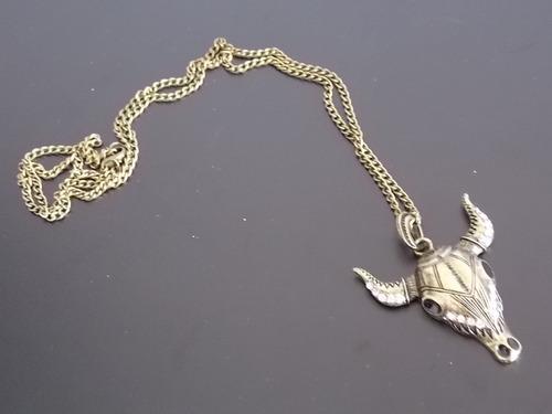 cadena con pendiente de toro collar skpalace