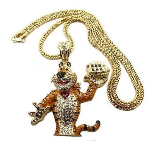 cadena con strass iced out tony the tiger zucaritas hip hop