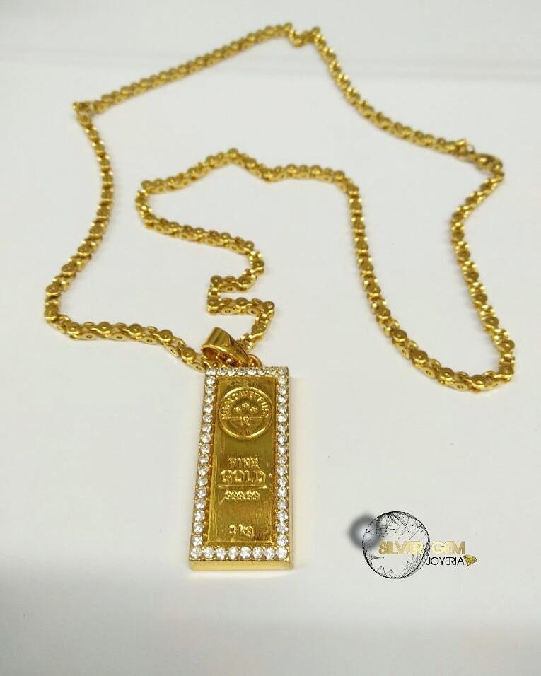 94c8854549e5 Cadena Cubana Para Hombre Con Dije Lingote Oro -   40.000 en Mercado ...