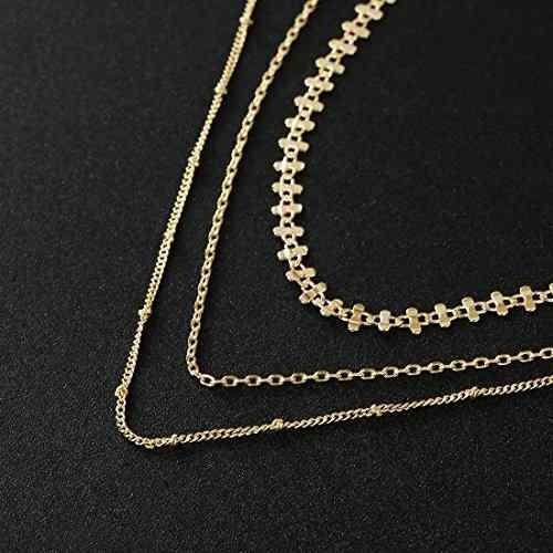 cadena de 3 eslabones hecha en oro amarillo y circonia cúbi