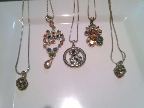 cadena de cristal  tous y fantasia fina 7verdes