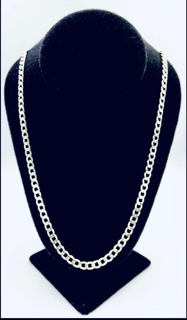 4d66e5930fe3 cadena de hombre cubana 60 cm plata 925 tipo americana 40 gr. Cargando zoom.