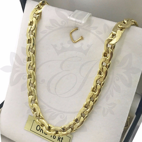 cadena de oro 18 k hombre paris - grueso 4mm -13 grs 60 cm