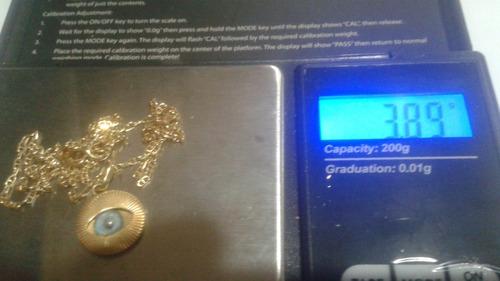 cadena de oro 18  pesa 3,89 grs