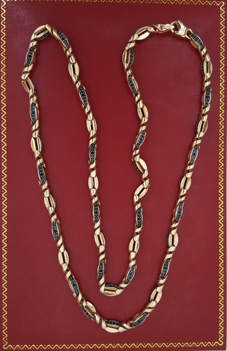 f829d1031144 cadena de oro rosa de 18k   diseño especial para hombre. Cargando zoom.
