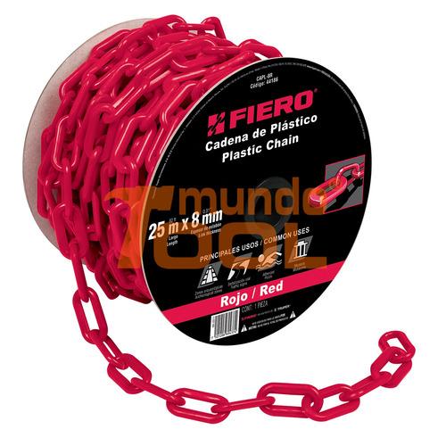 cadena de plástico de 8mm roja fiero 44186 envío gratis