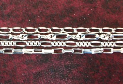 cadena de plata 4 modelos a elegir en plata fina ley.925