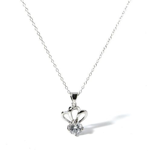 cadena de plata 925 para mujer dije corona piedras 727 balum