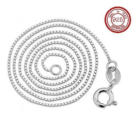 cadena de plata 925 rodinada 45cm x 0.81 mm