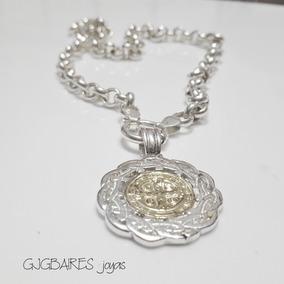 f3859ff4030 Anillo San Benito Medalla Oro Y Plata - Joyas y Relojes en Mercado Libre  Argentina